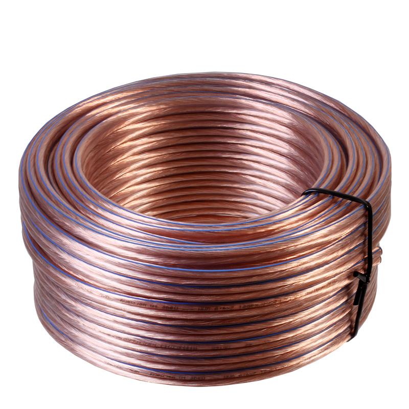 100 m Ring Lautsprecherkabel 2 x 4 mm² 99,99% OFC Kupfer Made in ...