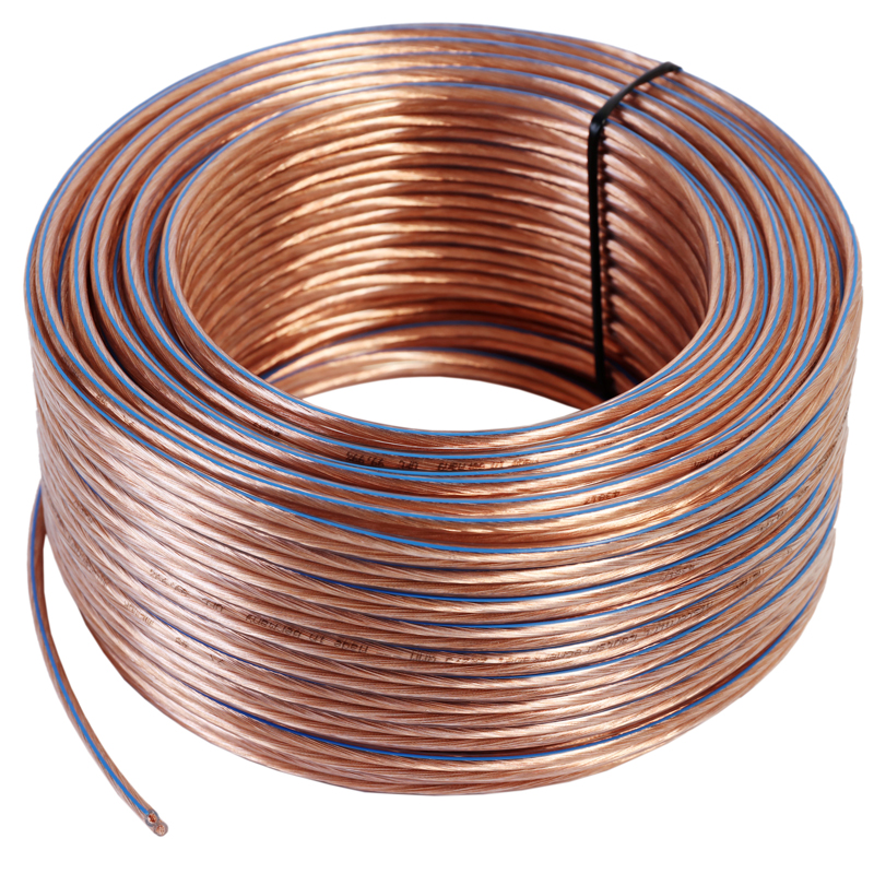 40m Ring 99,99/% OFC Kupfer Lautsprecherkabel  2 x 4,0 mm²  Made in Germany
